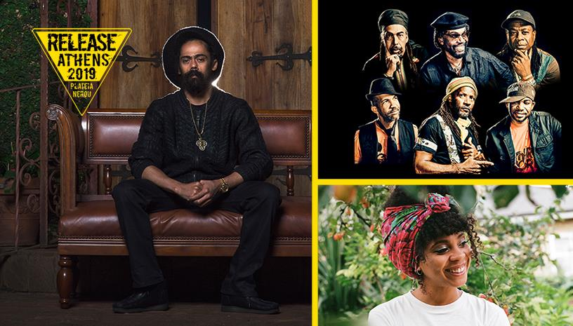 Release Athens 2019/ Damian Jr. Gong Marley, Third World, Hollie Cook