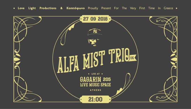 Alfa Mist Trio [UK] live in Athens
