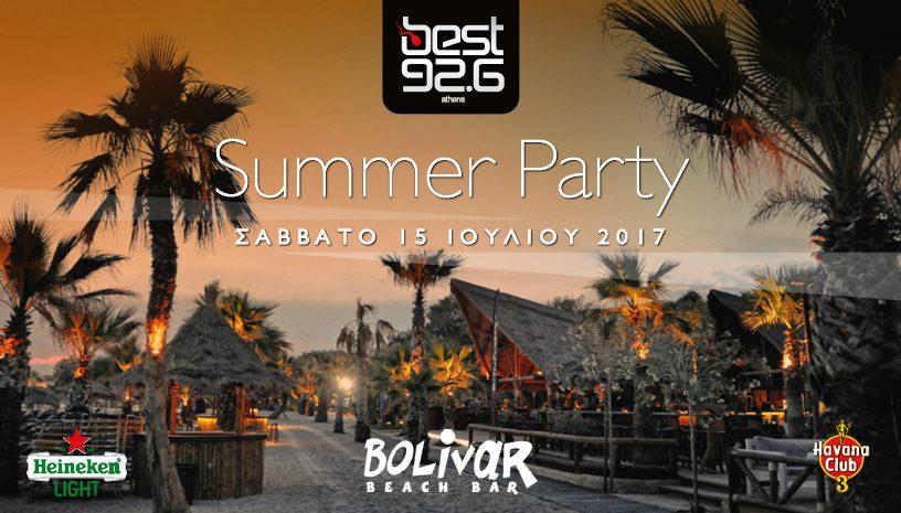 Best 92.6: The Summer Party, στο Bolivar Beach Bar