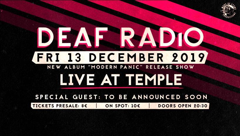 Οι Deaf Radio παρουσιάζουν τον νέο τους δίσκο στο Temple
