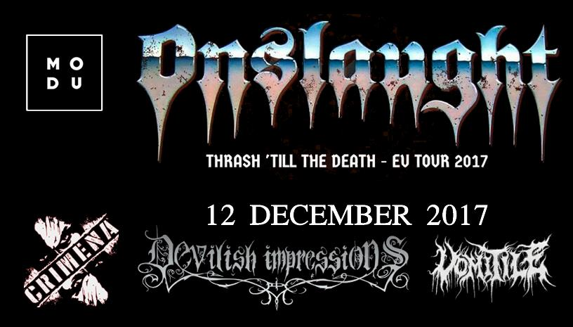Onslaught (UK) Live in Athens - 12 December