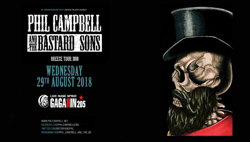 PHIL CAMPBELL & THE BASTARD SONS LIVE IN ATHENS