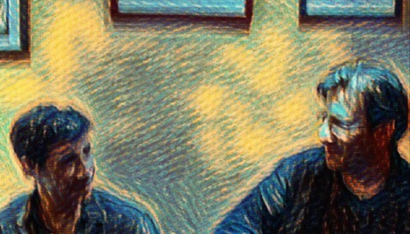 Ο Θανάσης Παπακωνσταντίνου & ο Σωκράτης Μάλαμας στα Χανιά
