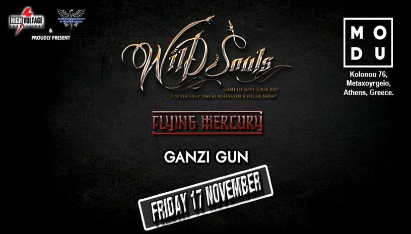 Wild Souls, Flying Mercury, Ganzi Gun live